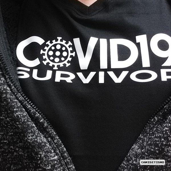 Camiseta Covid19 Survivor. Camiseta Coronavirus
