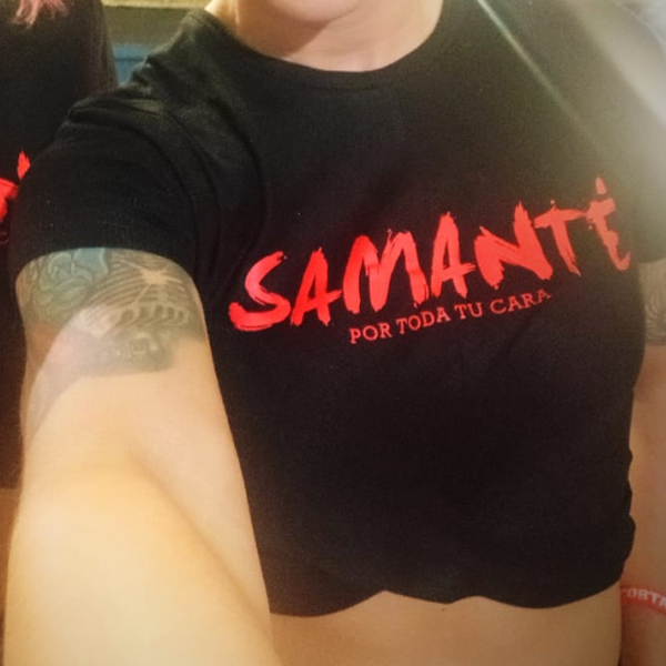 Camiseta Samanté, por toda tu cara