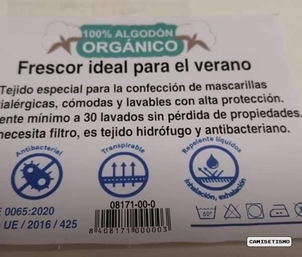 certificado mascarillas homologadas