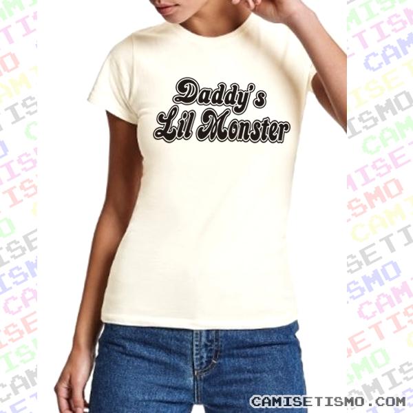 Camiseta Daddy's Lil Monster de Harley Quinn