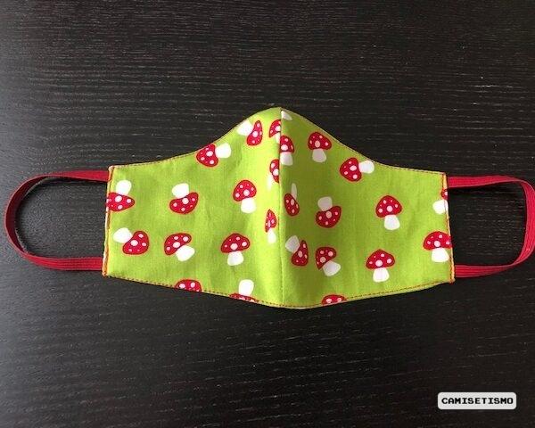 Mascarilla de setas como las de Super Mario