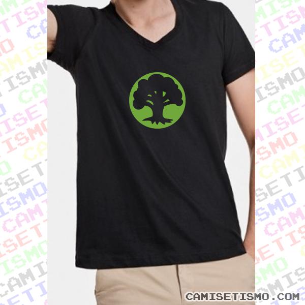 símbolo de maná verde