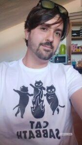 cat sabbath, camiseta